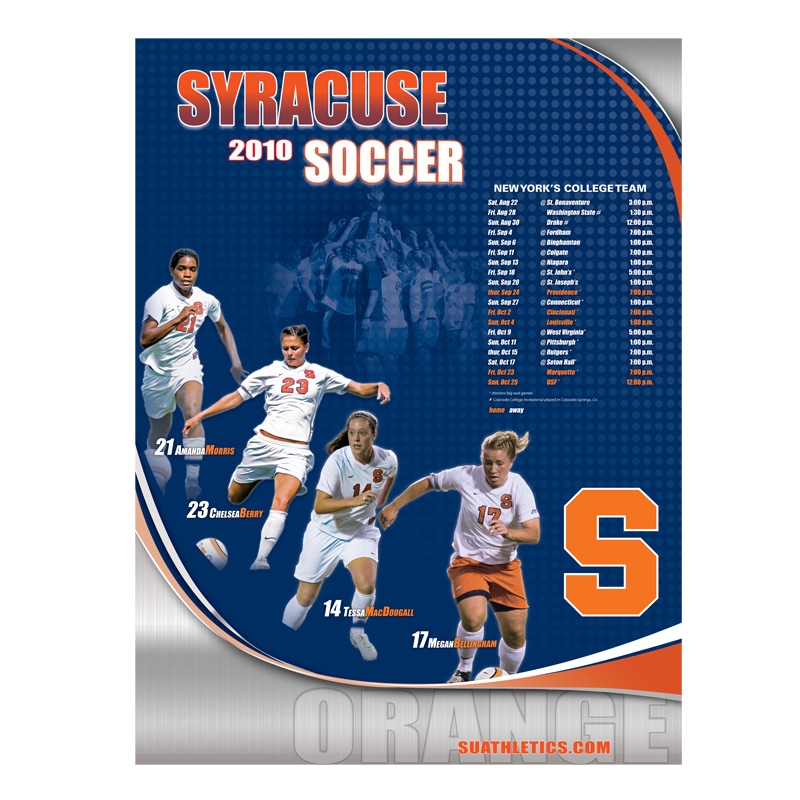 Syracuse Athletics Poster Template