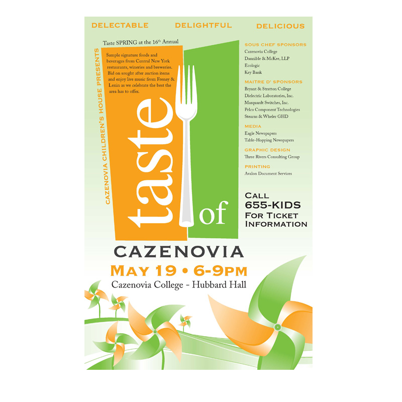 Taste of Cazenovia Flyer